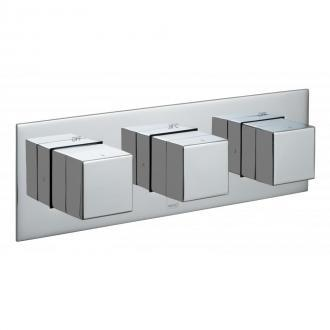3 Outlet, 3 Handle Concealed Thermostatic Valve, Horizontal