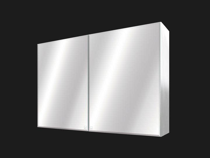 Duo-Door Small Bathroom Mirror Cabinet