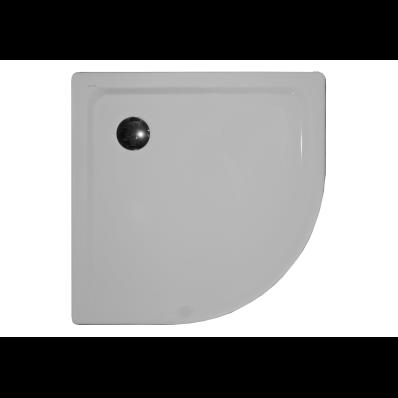 Generic Corner 100x100 cm Steel Shower Tray, 3.5 Mm, H:2.5 cm, 90 Mm Waste, Sound Proofing Pad