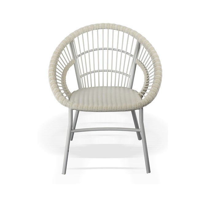 All Weather Polyrod Coco Chair In White