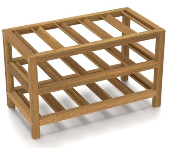 Solid Wood Countertop Wine Rack India