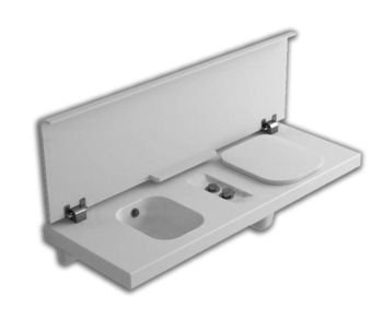 G-FULL 140x50 WC Right White Cover