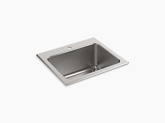 Top/Under-Mount Utility Sink With Single Faucet Hole