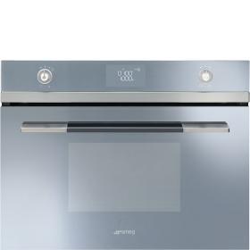 Electric Combination Microwave Oven, Vapor Clean, Compact 45 Cm, Linea, Silver Glass