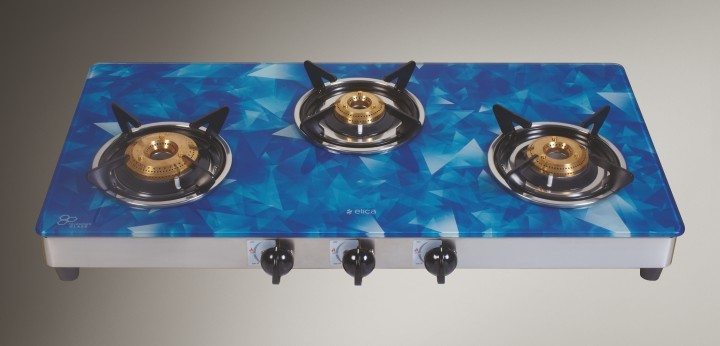773 Ct Verto S S with Digital Blue Glass Hob