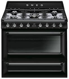 TR90BL1 Cooker, 90x60 Cm, Victoria, Black, Gas Hobs, Energy Rating B