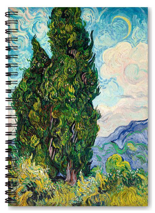 Cypresses (1889) by Vincent Van Gogh