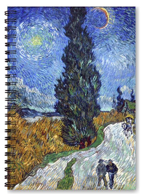 Road with Cypress and Star by Vincent van Gogh