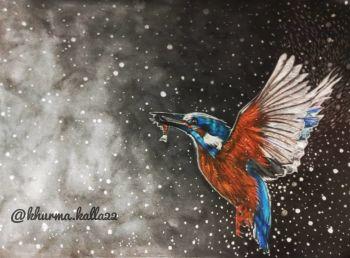 Flying bird handmade art