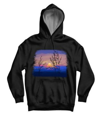 Colourful skies hoodie