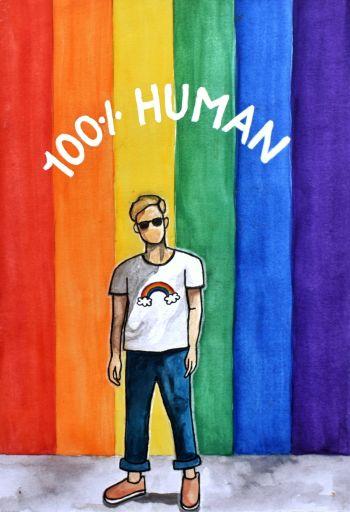 100% Human Poster