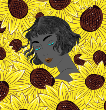 Sunflower series Illustration 1