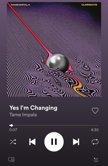 Yes I'm Changing: Tame Impala