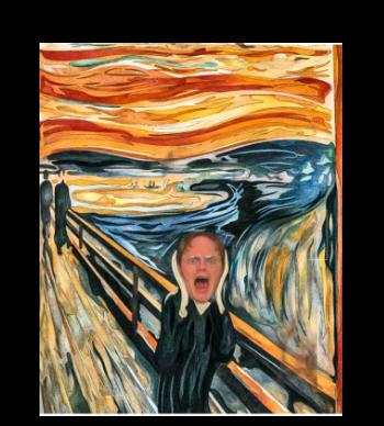The scream × Dwight!