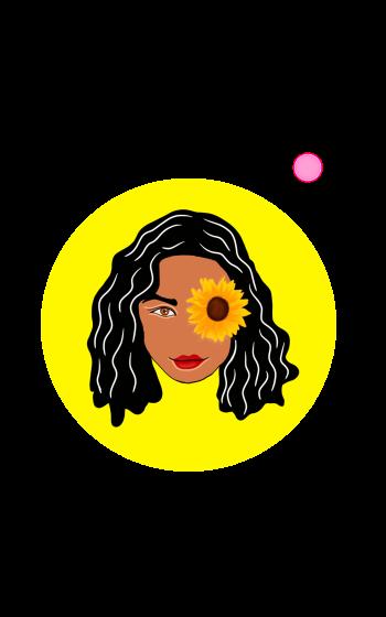 Lady Sunflower notebook