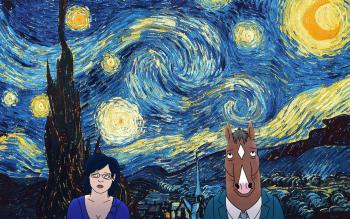 Bojack Horseman x Starry Night