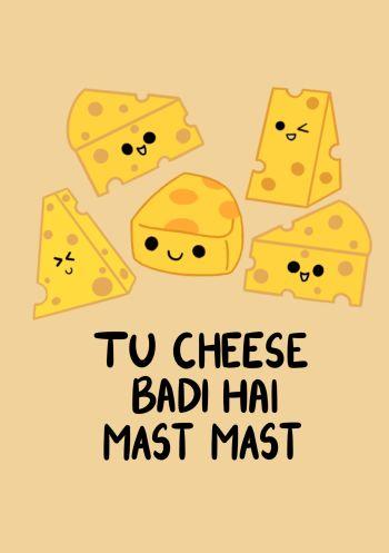 Tu cheese badi mast - Yellow