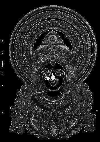 Goddess Lakshmi Doodle Art