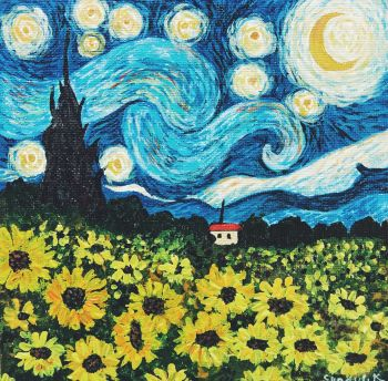 Sunflower Starry night