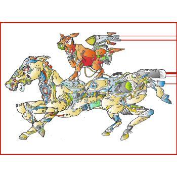 The Riding Horse by Majnu Bhai