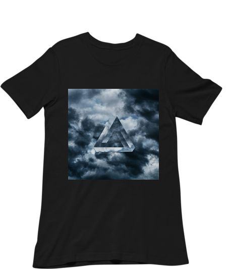 Abstract triangle with dark cloud