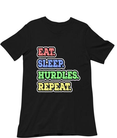 Eat Sleep Hurdles Repeat Track & Field Athlete