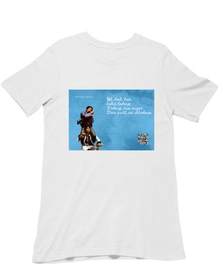 Musical Postcard On a T-Shirt-YEH DOSTI