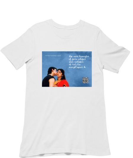 Musical Postcard On a T-Shirt-QSQT
