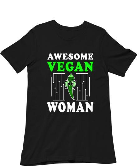 Awesome Vegan Woman Vegetable Okra Plant