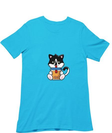 Cute Cat drinking bobble tea