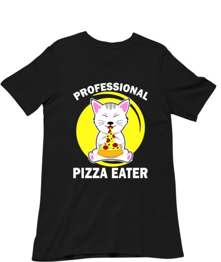 Professional Pizza Eater Funny Cat