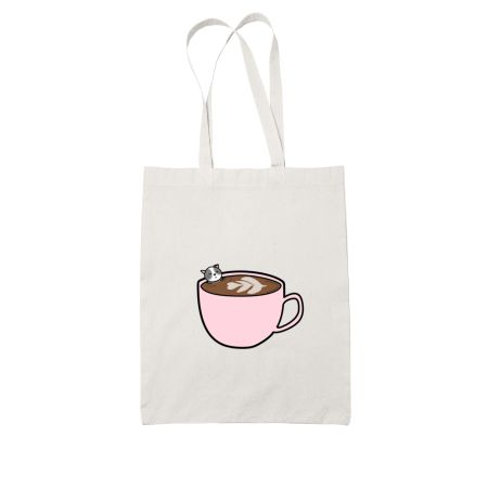 Cat and Coffee - Pink