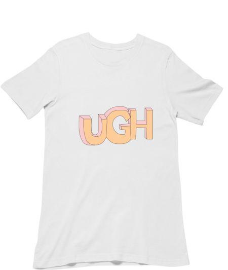 Ugh. Cute tshirt . Cute mug black t-shirt