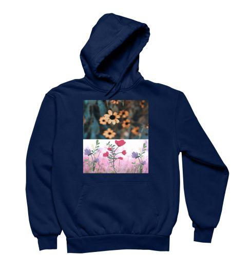Colourful Flowers Trendy Design Sweat Shirt