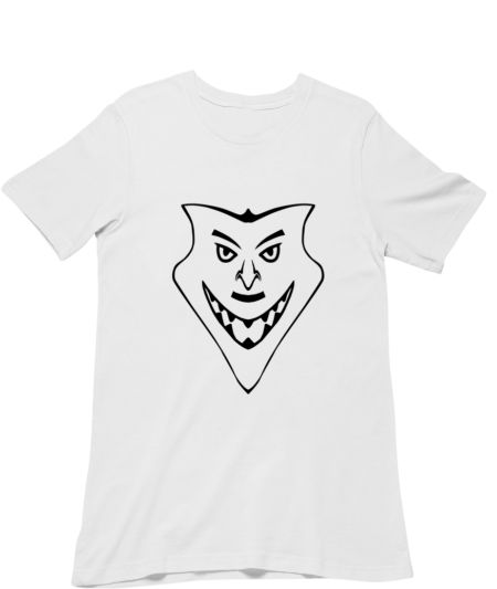 Cool Hand Drawn Serious Cartoon Face Smiling Silhouette