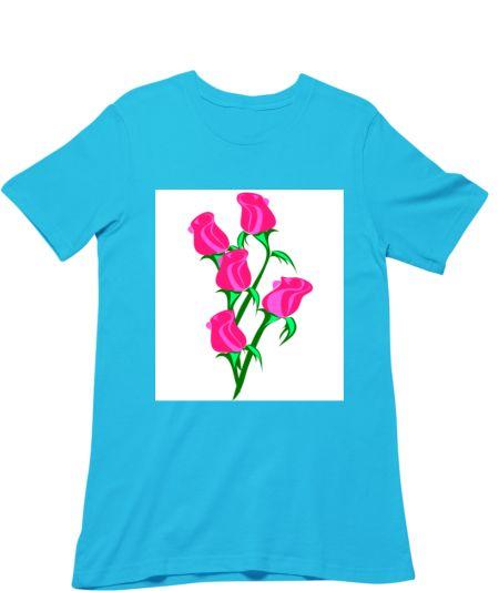 Trendy Red Colour Rose Flowers Design
