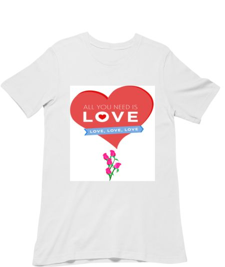 Love and Heart &Red Colour Rose Flowers Design