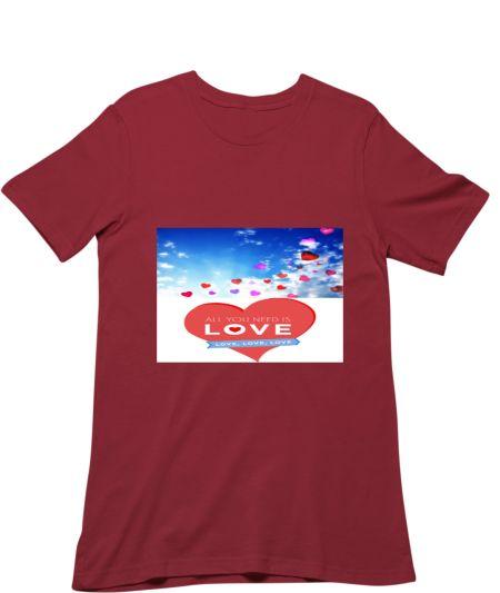 Blue Sky and Heart love Art Design Hoodie