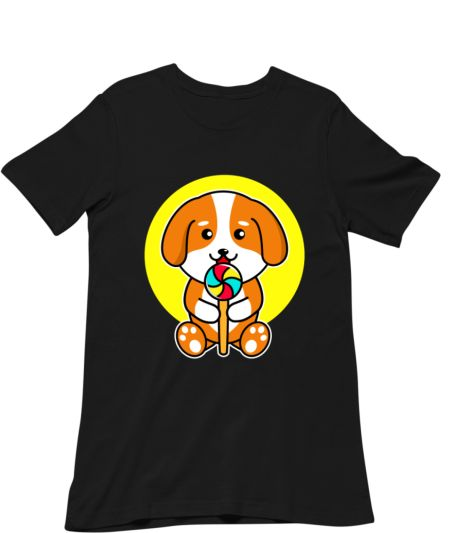 Cute Dog Eating Candy Pet Lover
