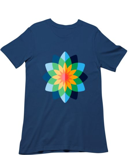Trendy Colourful Flower Design Cotton T-shirt