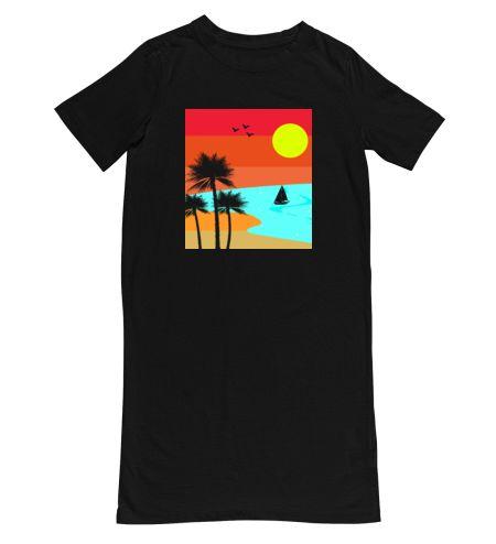 Cool Minimalistic Beach Retro Sunset Design