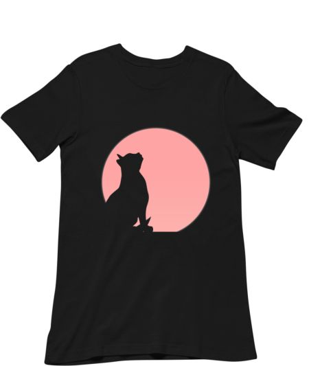 Cool Cat Silhouette On Full Moon