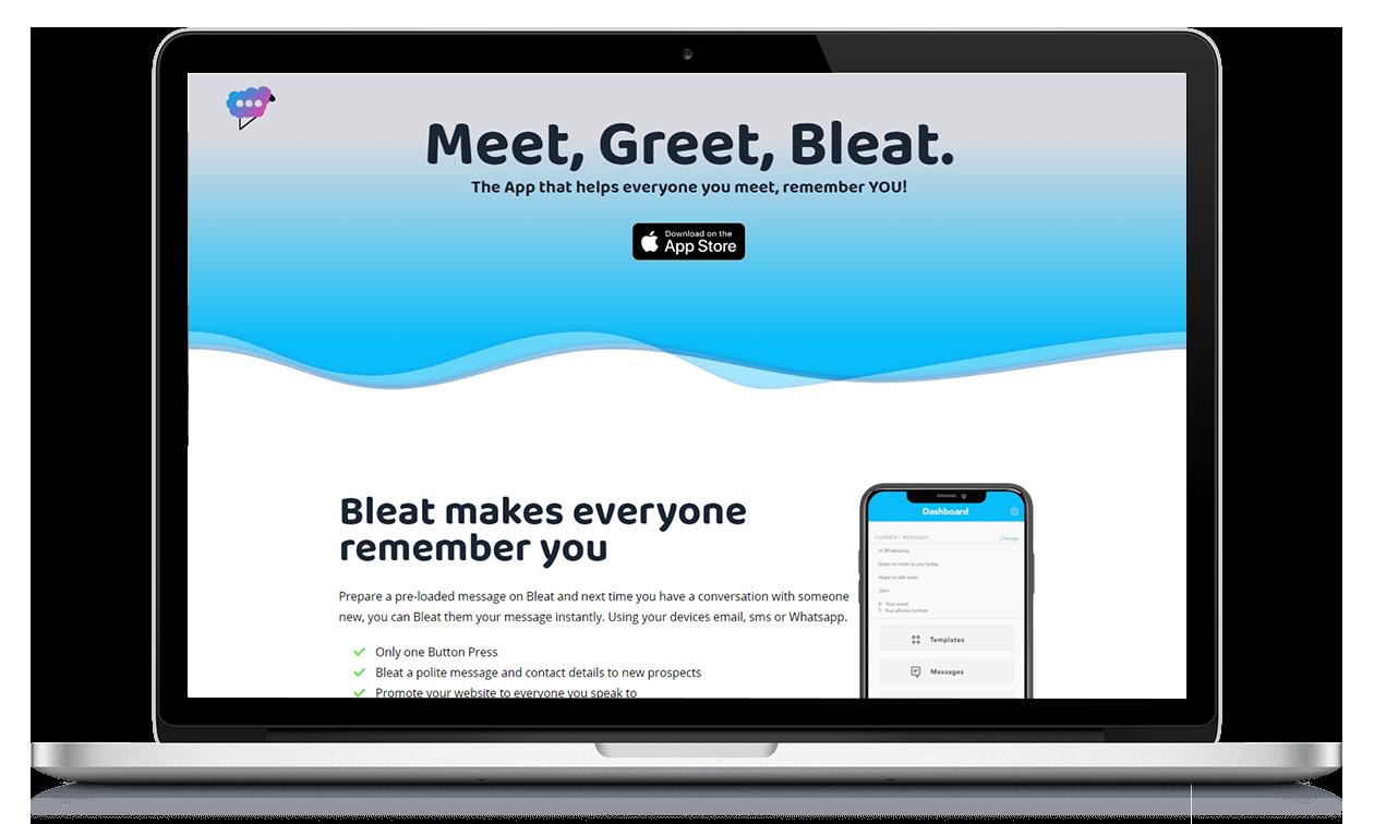 Image showing Bleat website