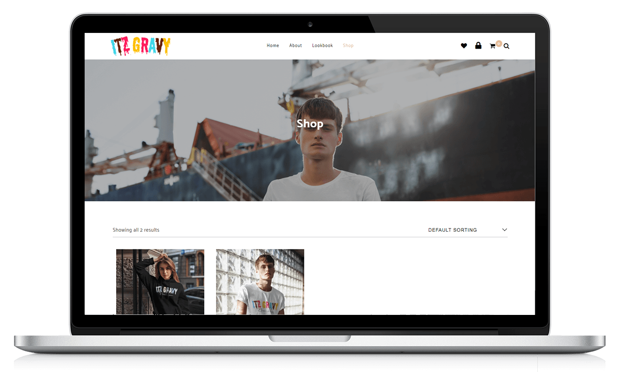 Image showing ITZ Gravy website
