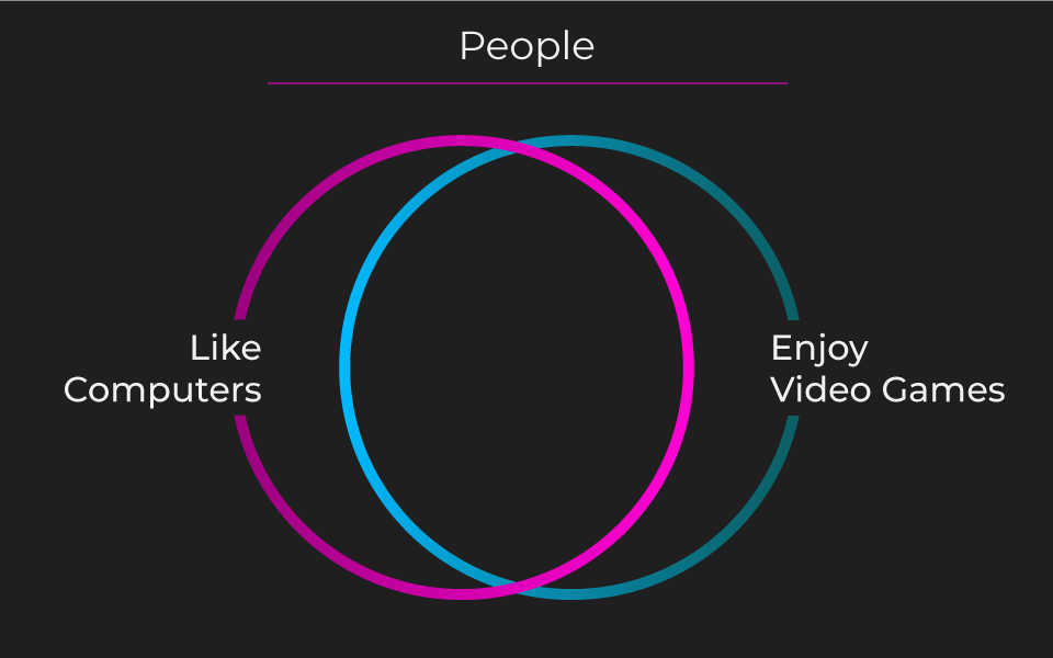 venn diagram of people who like computers and enjoy video games