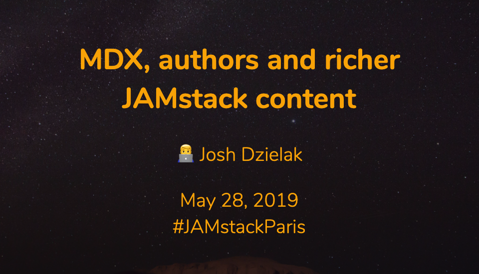 MDX, authors and richer JAMstack content