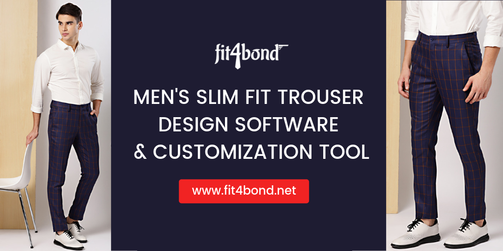 Men's Slim Fit Trouser Design Software & Customization Tool
