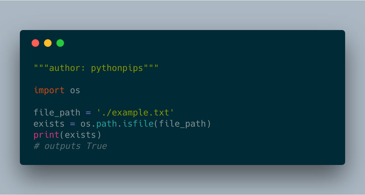 How to Check If File Exists in Python | PythonPips