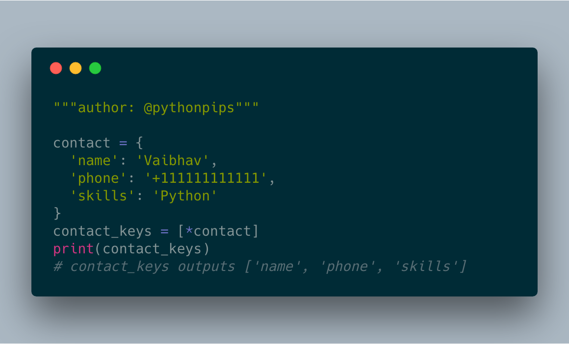 How to Get List of Dictionary Keys in Python