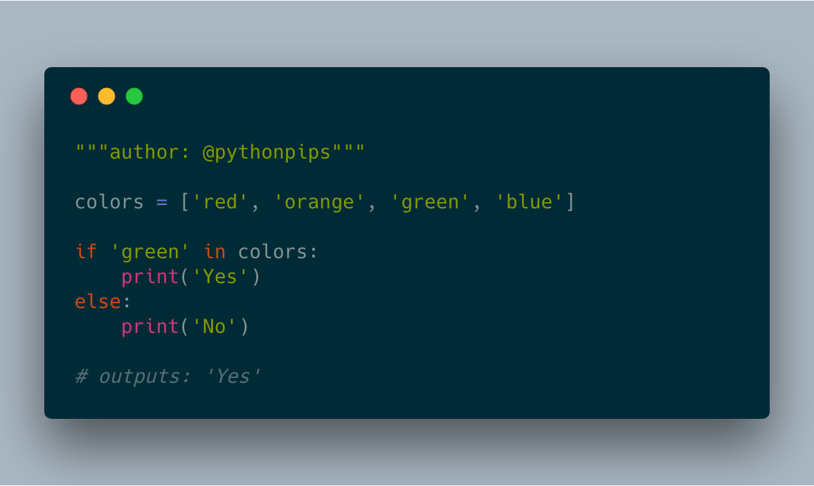How to Check If an item is in the List in Python